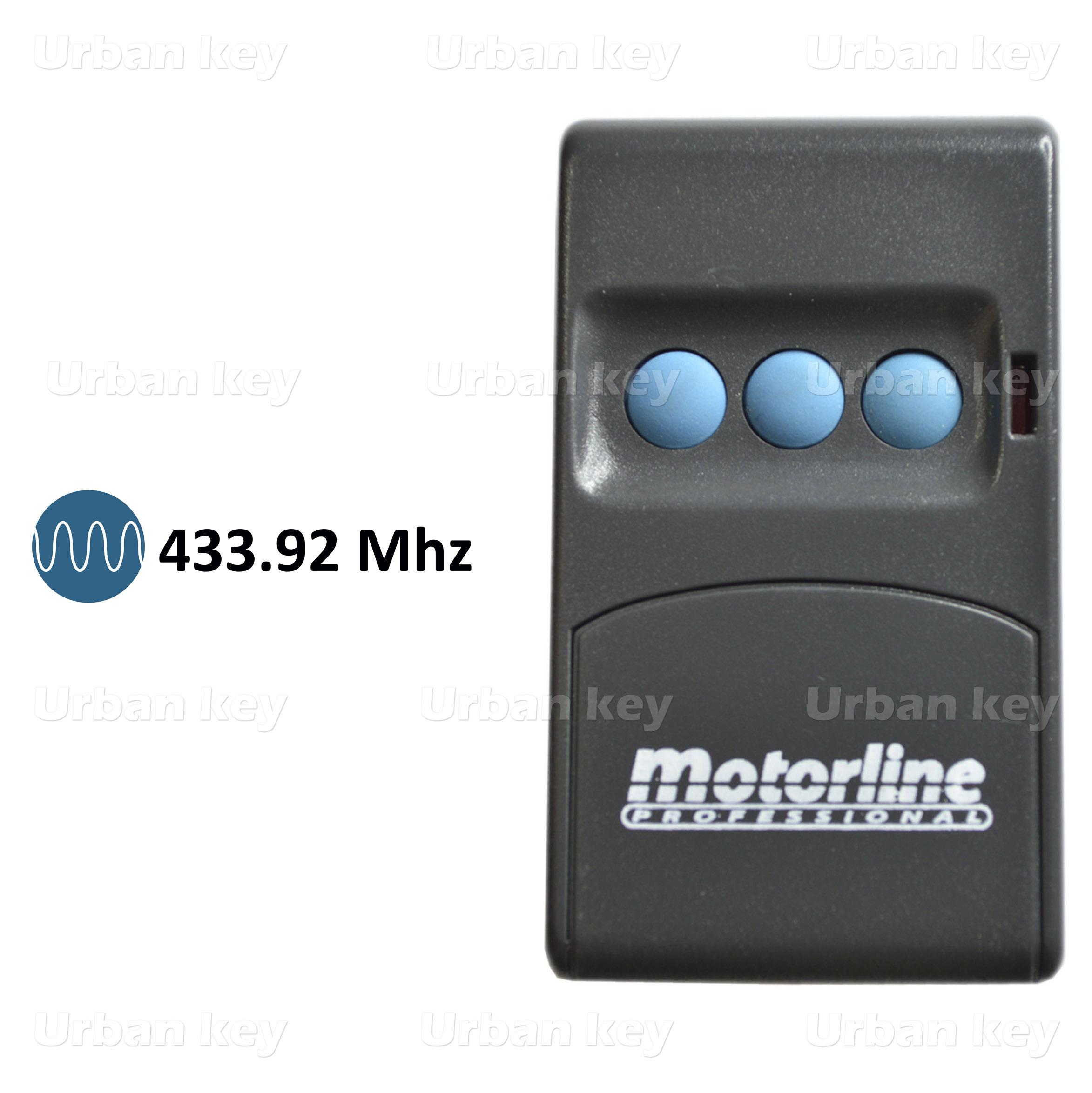 EMISSOR MOTORLINE MX3  433MHZ 3 CANAIS