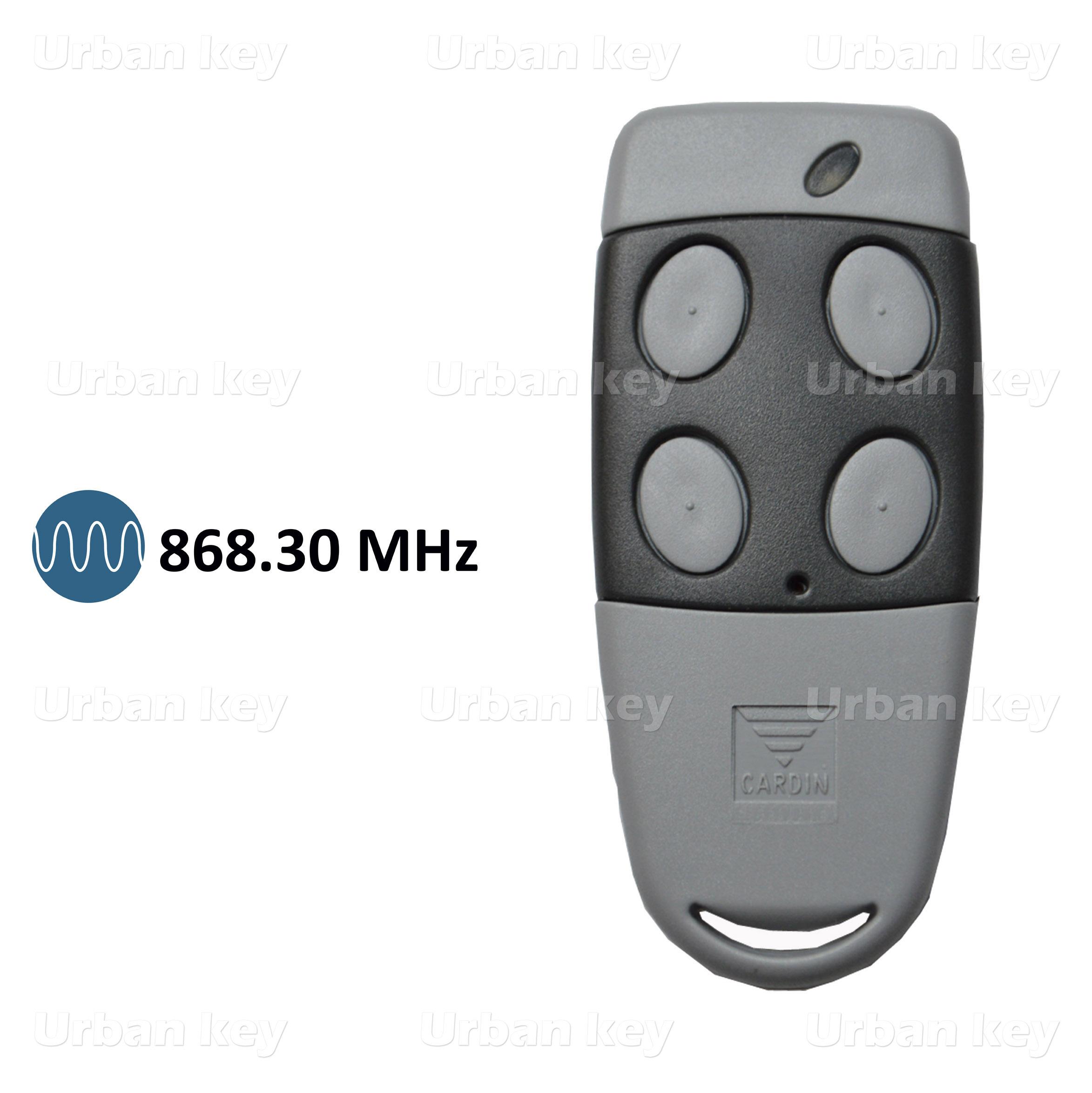 EMISSOR CARDIN S486 QZ/4  868MHZ 4 CANAIS