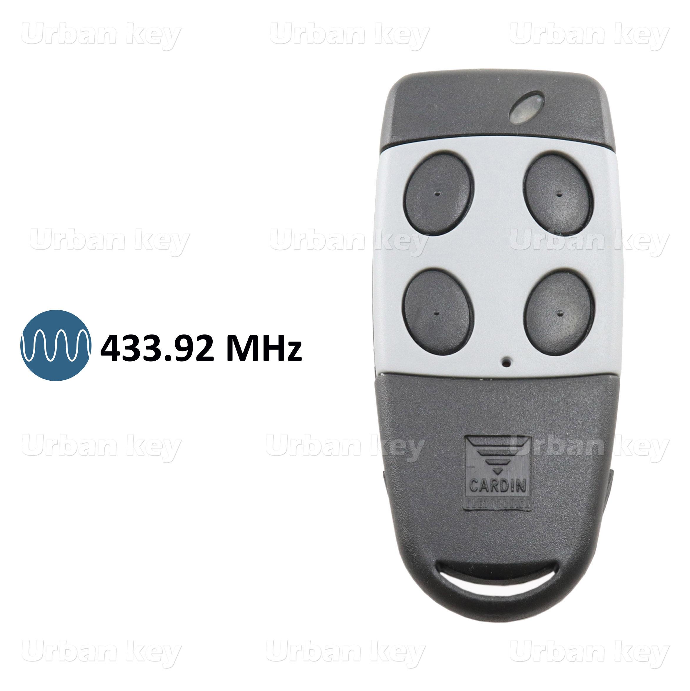 EMISSOR CARDIN S449 QZ4 433 MHz 4 CANAIS