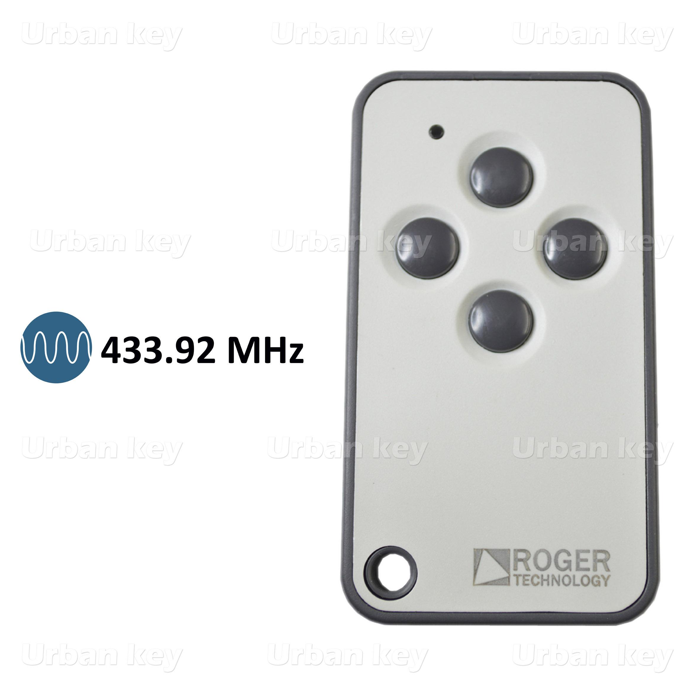 EMISSOR ROGER TX54R/2 433 MHz 4 CANAIS