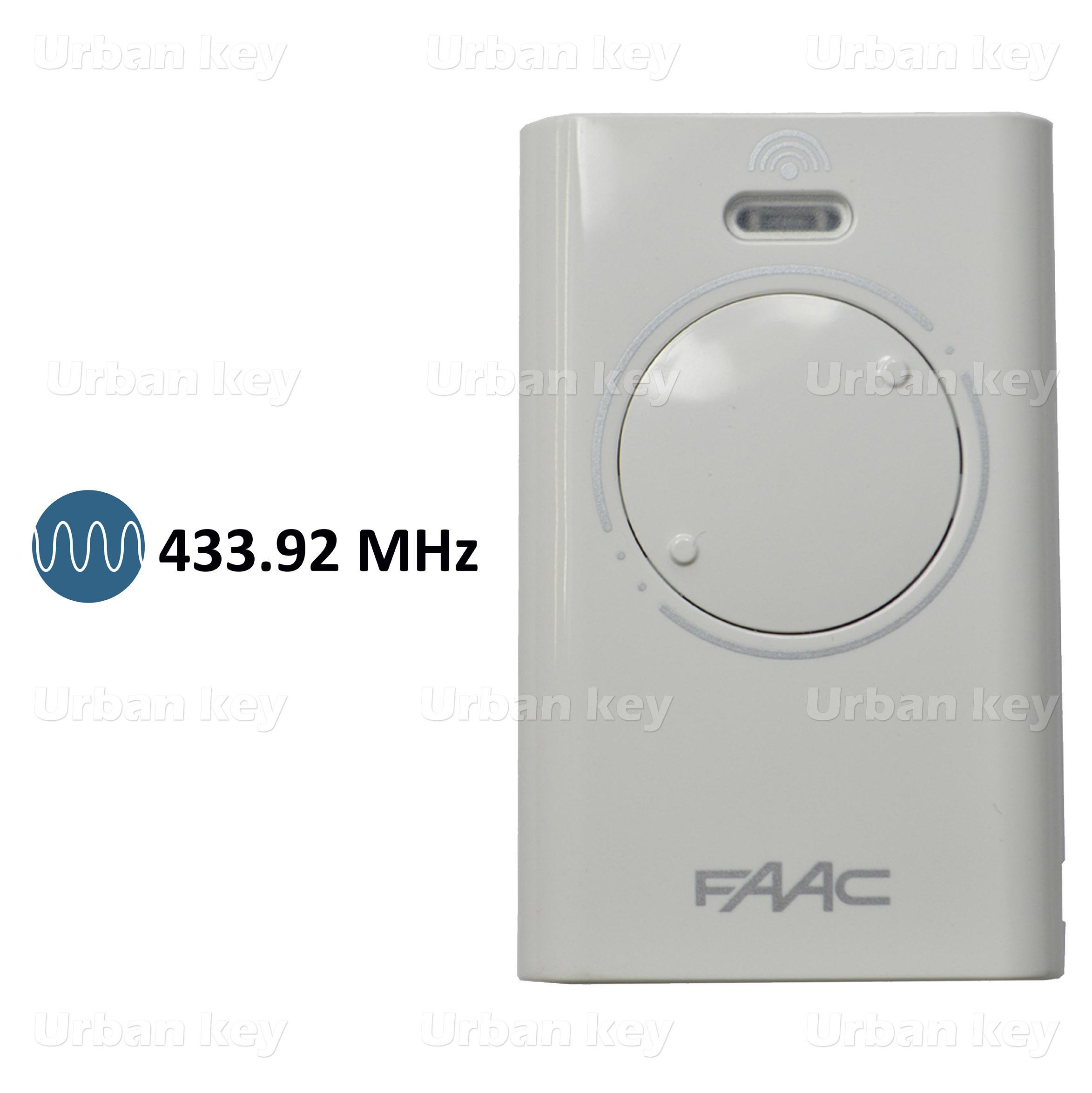 EMISSOR FAAC XT2SLH 433Mhz 2 CANAIS
