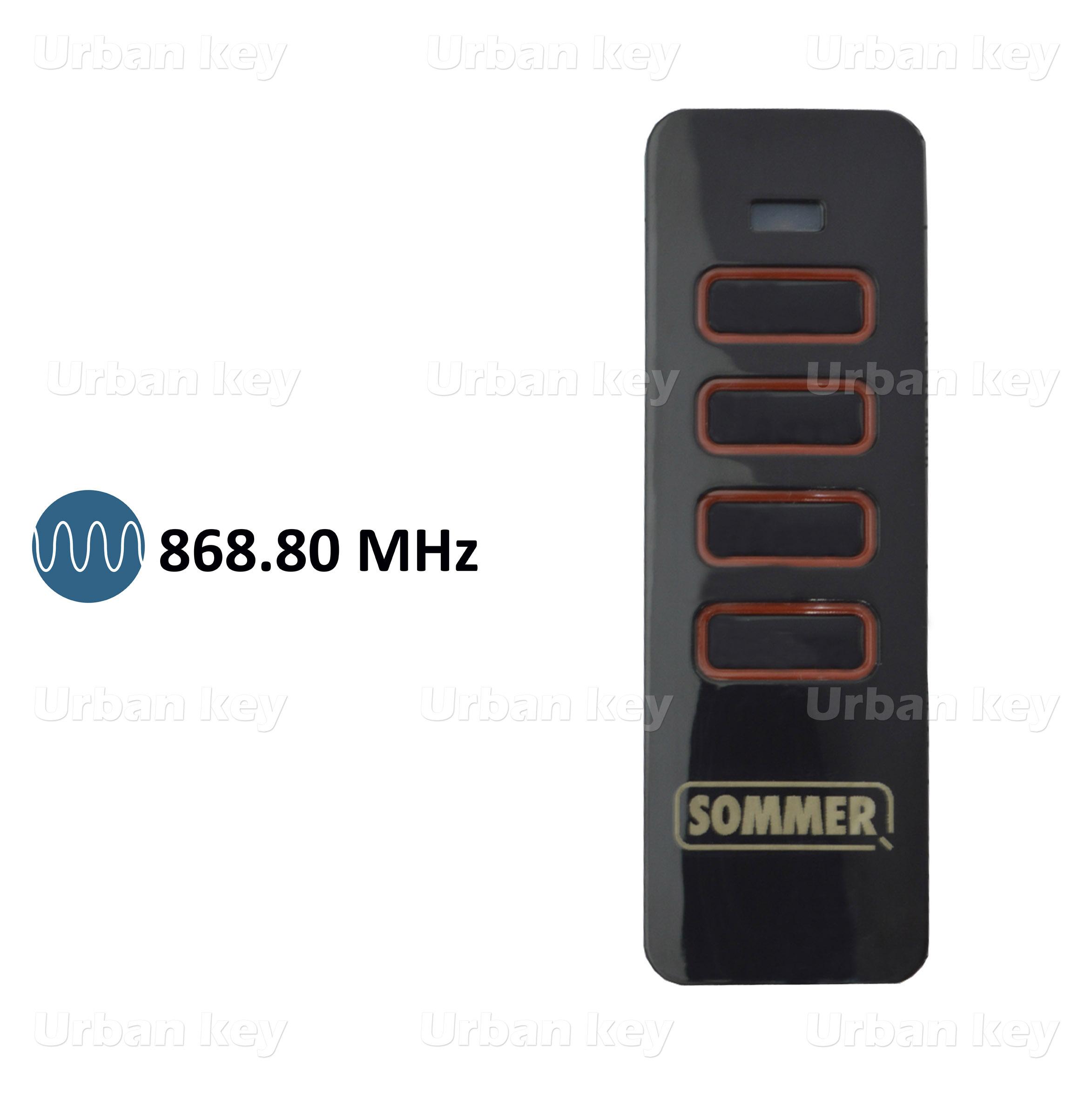 EMISSOR SOMMER 4018 868MHZ 4 CANAIS