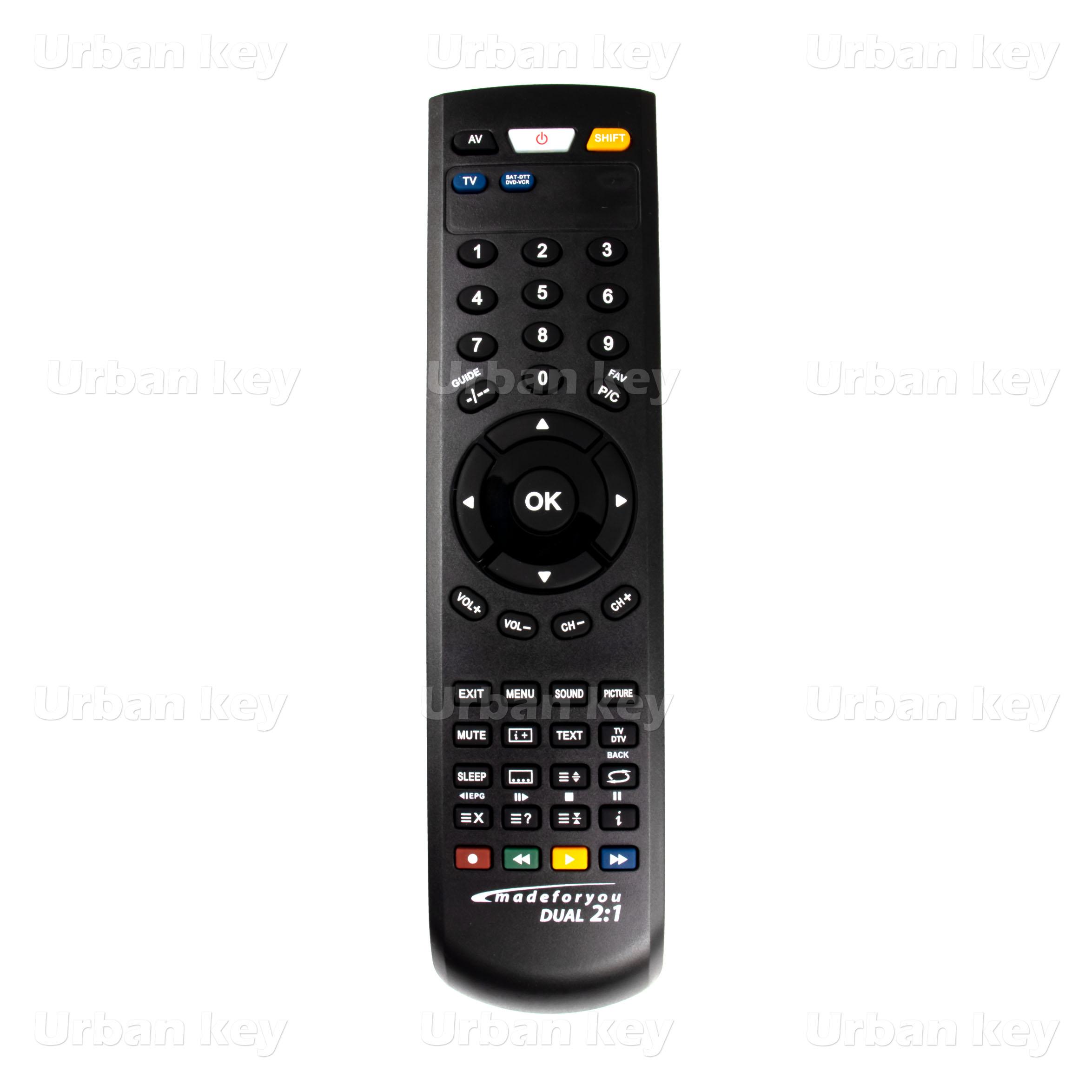 COMANDO UNIVERSAL TV_SATELITE E DTT