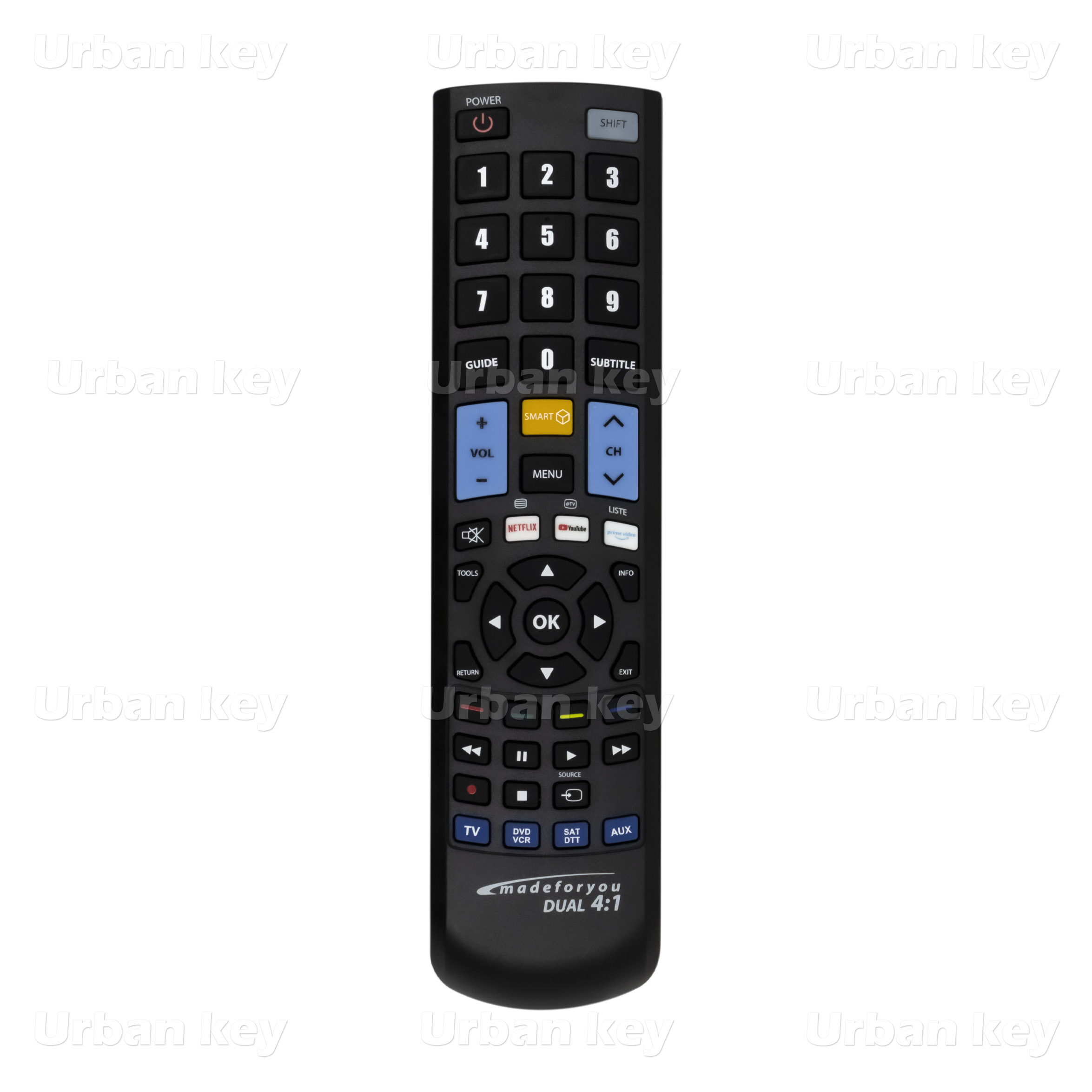 COMANDO UNIVERSAL TV_SATELITE_DTT_DVD 4:1