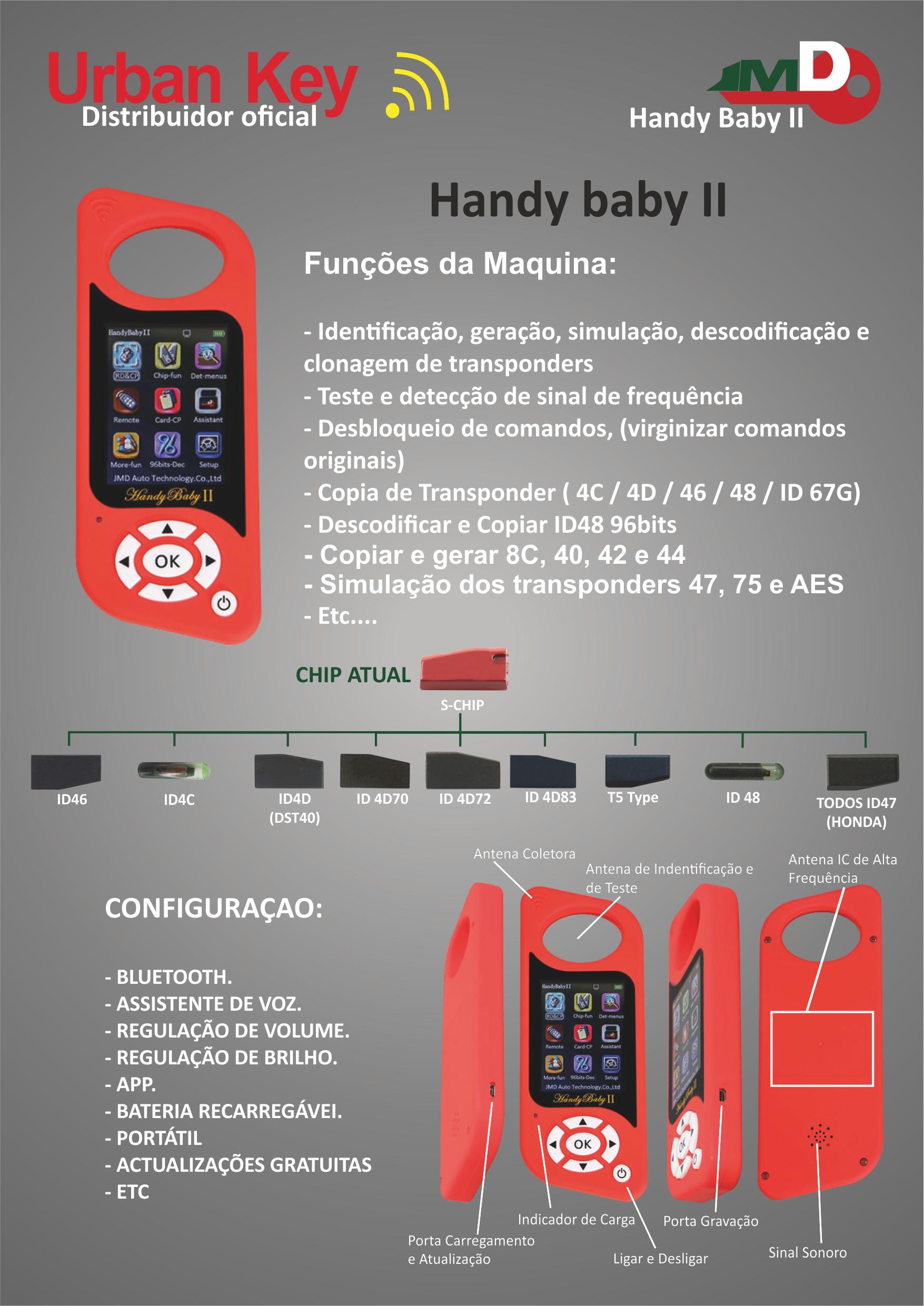 MAQUINA CLONAGEM TRANSPONDER HANDY BABY 2