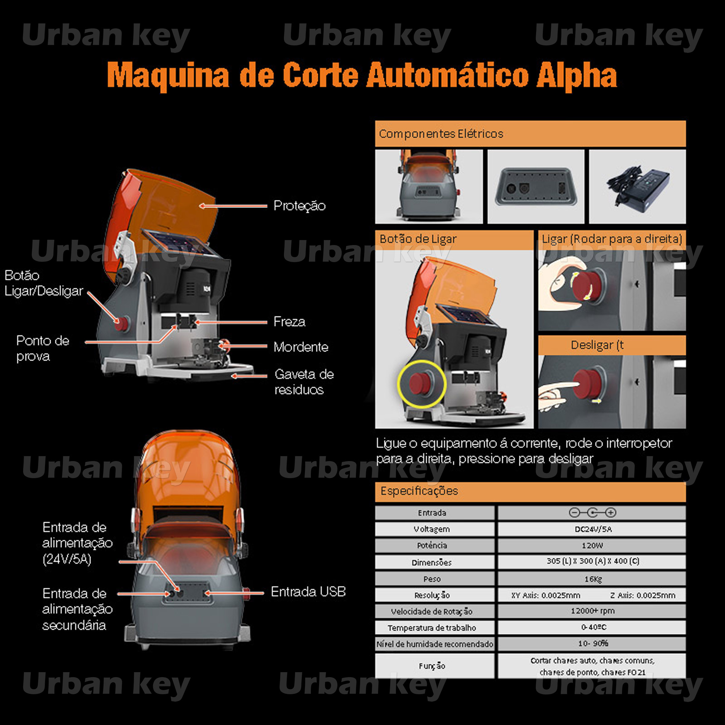 MAQUINA CORTE AUTOMATICA CHAVES ALPHA